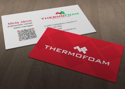 Thermofoam névjegykártya